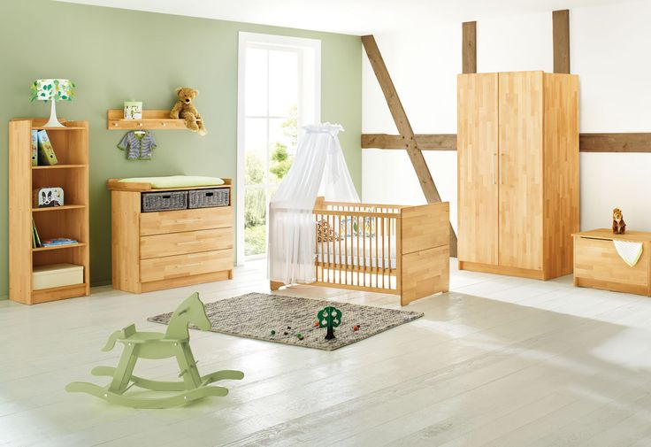 Elegant  teiliges Set die ideale Erstausstattung f r das nat rliche Babyzimmer bestehend aus Kinderbett