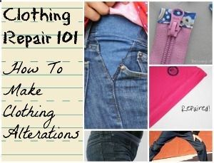Learn how to repair a zipper, make clothing alterations, and do a little refashioning clothes magic to make your problem disappear.