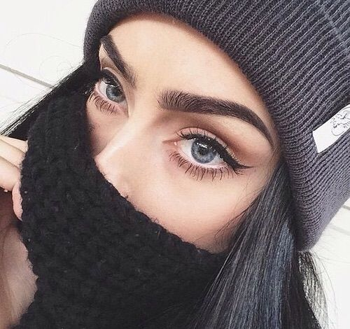 Image via We Heart It #aesthetic #eyebrows #eyeliner #eyes  #facegoals