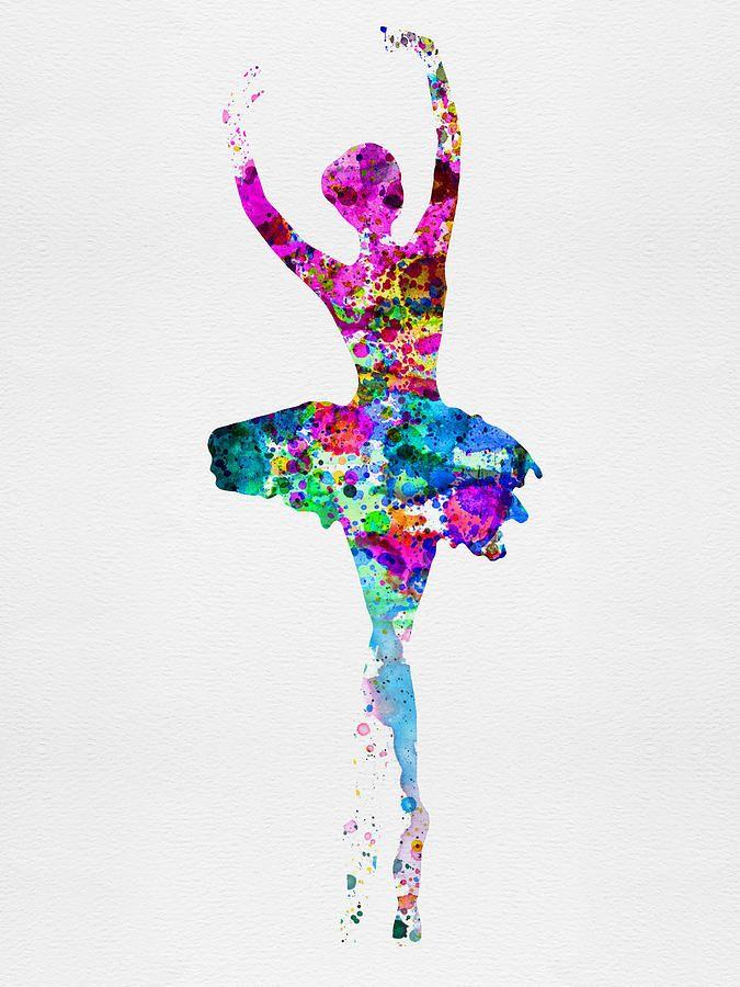 Ballerina Watercolor 1 Painting by Naxart Studio