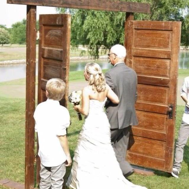 Outdoor Wedding Ceremony Doors: Got Enough Doors Round Here To Do That