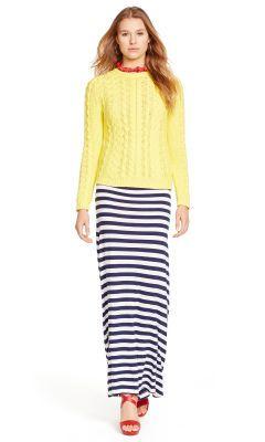 Striped Jersey Maxiskirt - Polo Ralph Lauren Maxi Skirts - RalphLauren.com