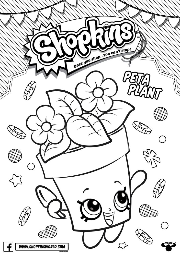 Shopkins Are Collectable Toys And They Manufactured By Moose These Became Available Kids ColouringColouring PagesShopkin