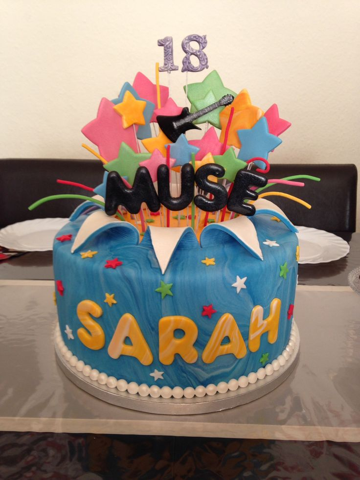 Star Burst Cake  Sarahs 18. Geburtstag
