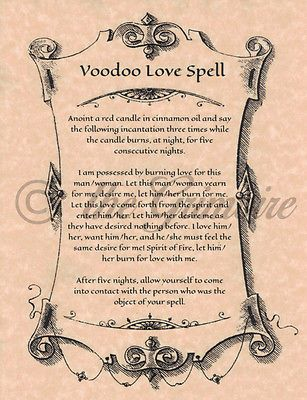 Voodoo Love Spell Witchcraft Wicca Book of Shadows Pages Like Charmed | eBay