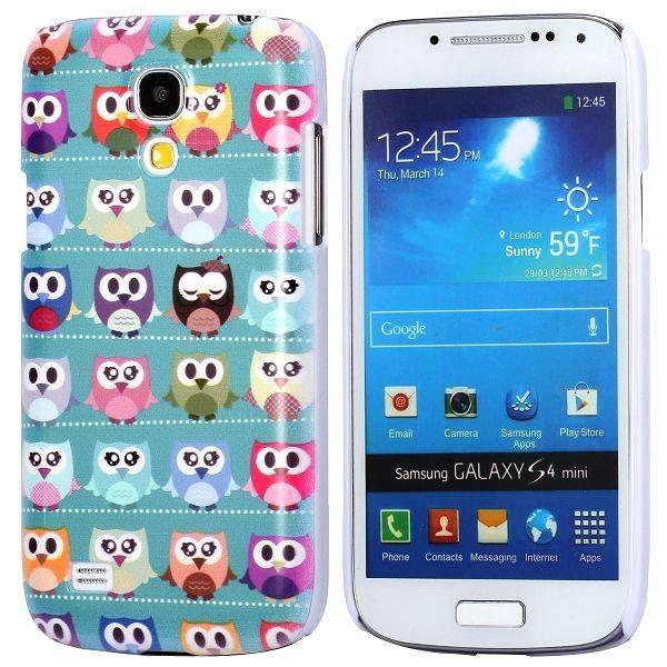 Uiltjes blauw hoesje Samsung Galaxy S4 mini