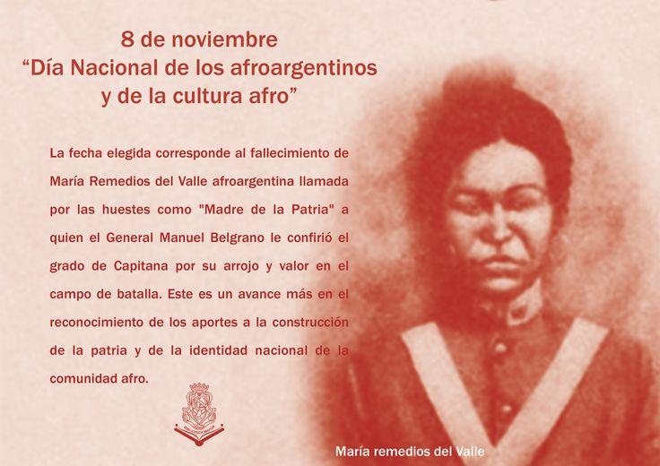 """8 de noviembre """"Día Nacional de las/os Afroargentinas/os y de la Cultura afro"""""""