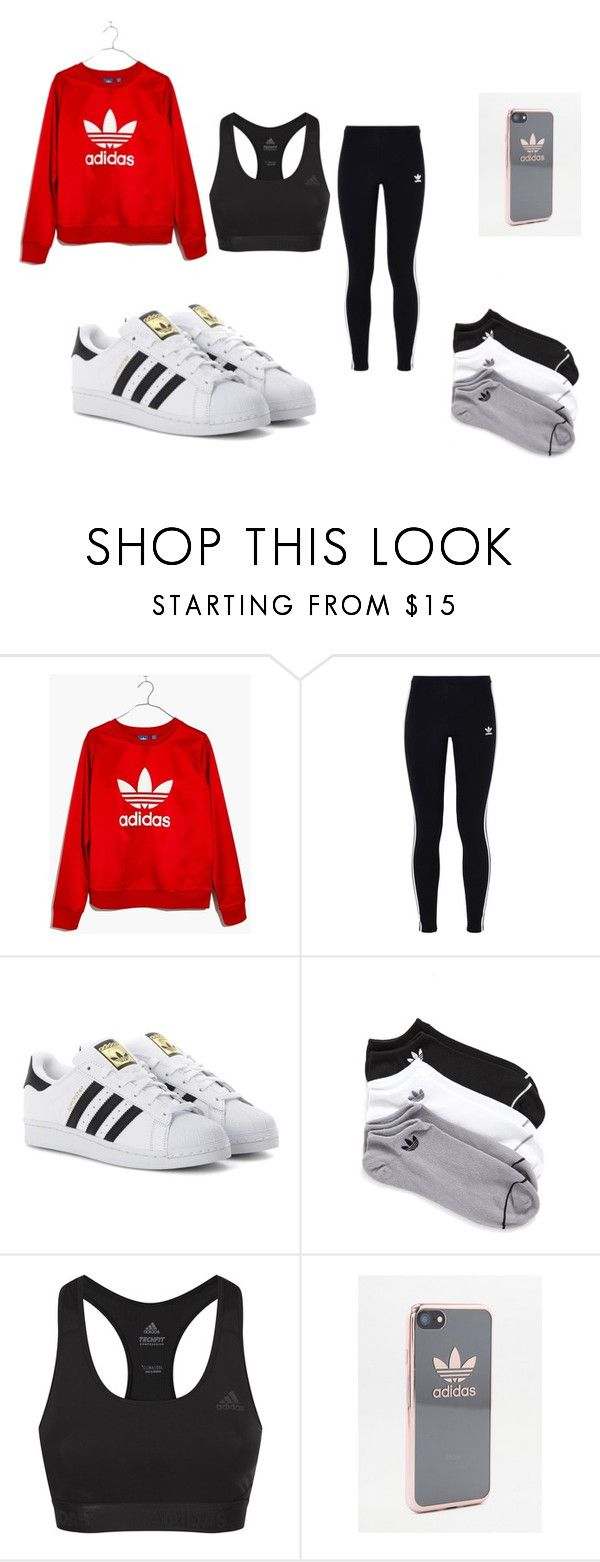 """Adidas"" by ronaldraegan-1 on Polyvore featuring Madewell, adidas Originals and adidas"