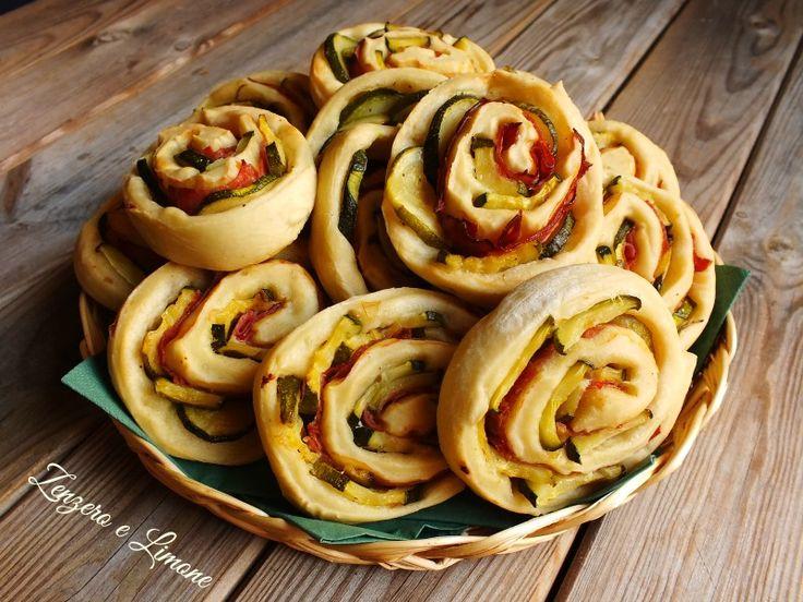 girelle con zucchine e salame