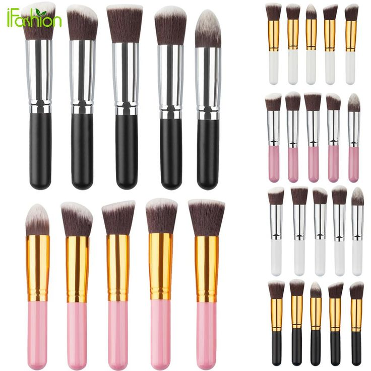 5 Stks Zachte Synthetische Make Borstel Set Cosmetische Poeder Foundation blush blending kabuki make up borstels tool kits Pincel Maquiagem