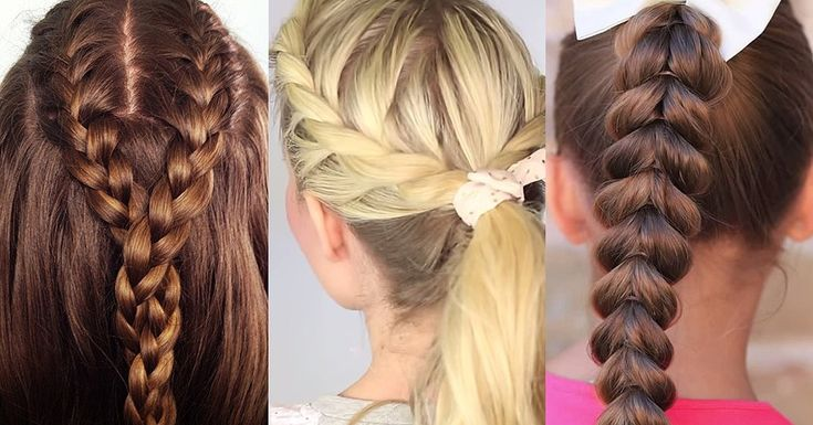 easy braids for school - photo #37