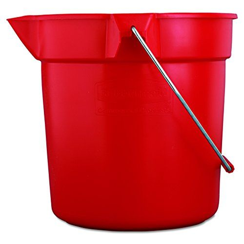 Rubbermaid Commercial 10 Qt Brute Heavy Duty Corrosive Resistant Round Bucket Red Fg296300red In 2020 Rubbermaid Commercial Products Rubbermaid Commercial Mop