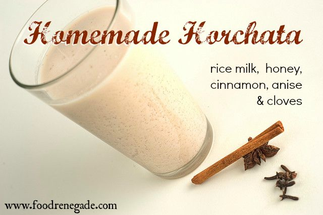 Horchata Recipe: Sweet Mexican Rice Milk made with homemade rice milk, honey,