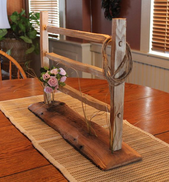 Rustic Farm And Country Style Garden Split Rail By Necenterpieces 49 00 Stuff Pinterest
