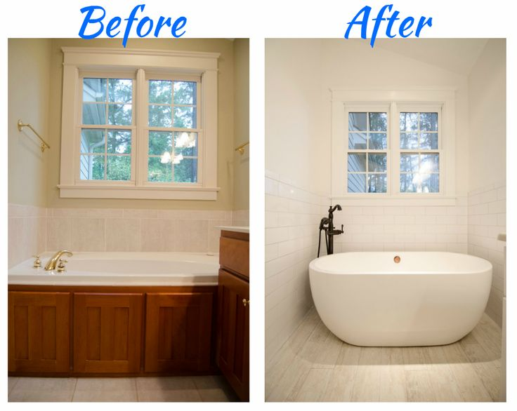 Complete bathroom remodel brought to you by re bath of the - Small bathroom remodel with tub ...