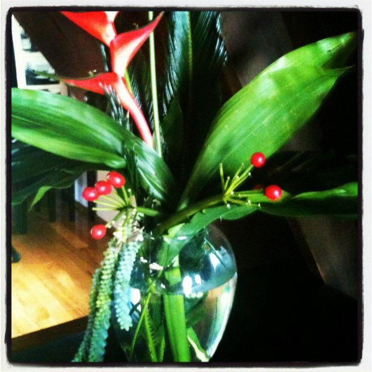 Tropical floral arrangement by Florentina