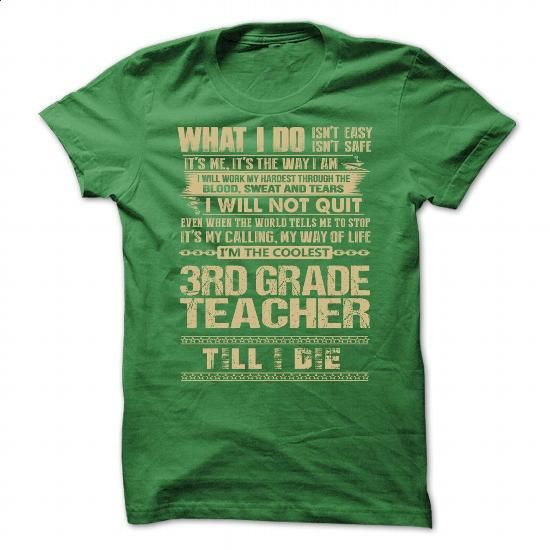 Awesome Shirt For 3rd Grade Teacher #clothing #T-Shirts. BUY NOW => https://www.sunfrog.com/LifeStyle/Awesome-Shirt-For-3rd-Grade-Teacher-1530-Green-Guys.html?60505