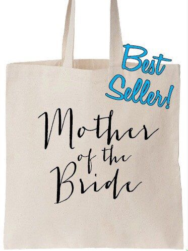 FREE SHIPPING-US Seller-Mother of the Bride Bag. Bridesmaid Tote. Bridesmaid Bag. Personalized Tote. Personalized Wedding Day Tote by LaStradaDesigns on Etsy https://www.etsy.com/listing/249966071/free-shipping-us-seller-mother-of-the