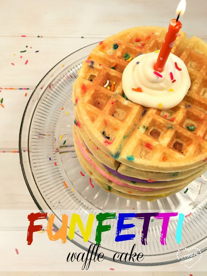 Make a cake out of waffles this year...so fun!! Unique cake idea that kids love and an EASY way to make a layered cake!