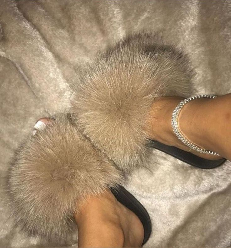 Real Fox Slippers