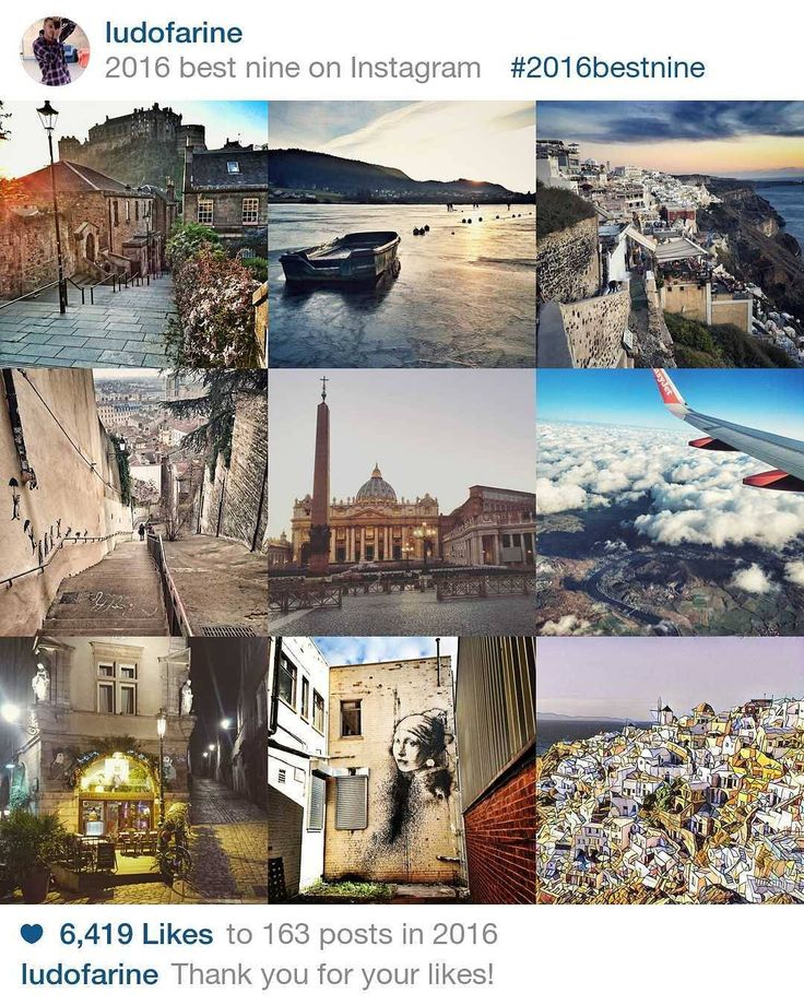 #2016bestnine Another year's gone by...  Here's the pictures you like the most.   #Edinburgh #Villerslelac #Santorini #Lyon #Rome #Prague and #Bristol  Looking for 2017 for new travels   Thank you so much for your likes  -- #igersedinburgh #igerslyon #igerssantorini #igersbristol #igersprague #igersroma #santorini #Lyon #franchecomte_tourisme #thisisedinburgh #easyjet #visitbristol #visitgreece #scotspirit #bbctravel #instatravel #onlylyon #whynot #happynewyear #instable #picoftheday…