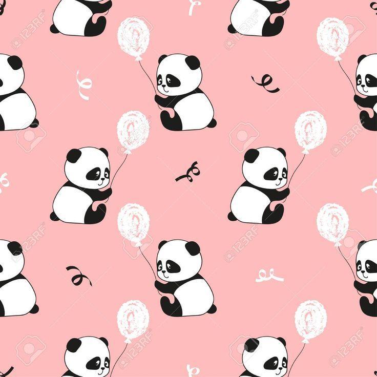Cute Panda Bears And Balloons Vector Kids Background Affiliate Bears Pan Affiliate Background Ba Cute Girl Wallpaper Kids Background Cute Panda