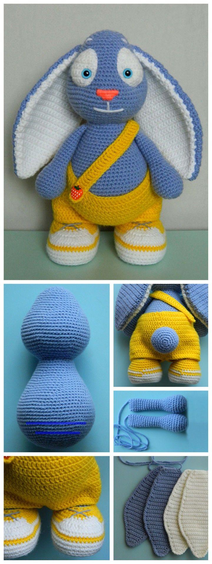 Bunny Amigurumi Step-by-Step Tutorial #amigurumi #amigurumipattern #crochet #tut…