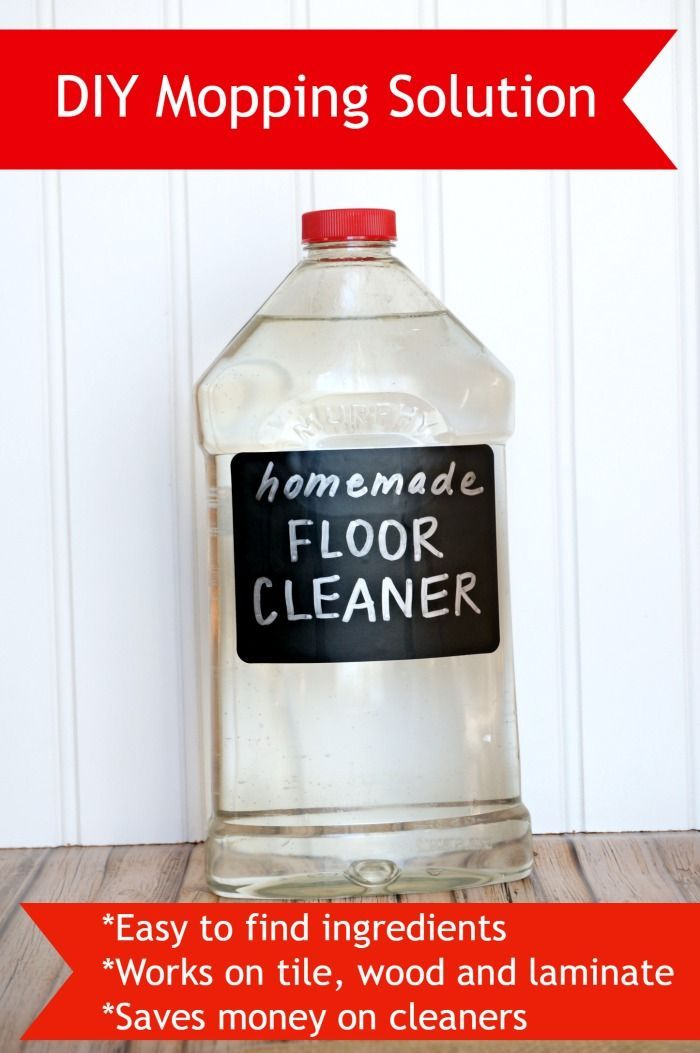 Diy mopping solution easy to make and works great on tile - Make laminate floor cleaner ...