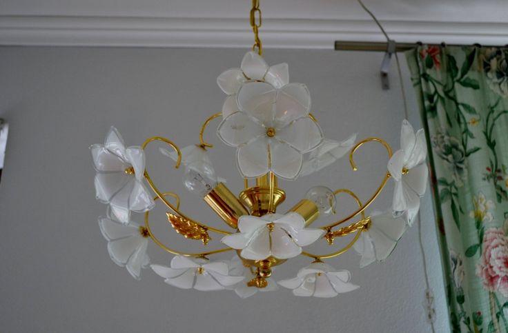 CHANDELIER pendant teto MURANO lâmpada de vidro por VintageofItaly