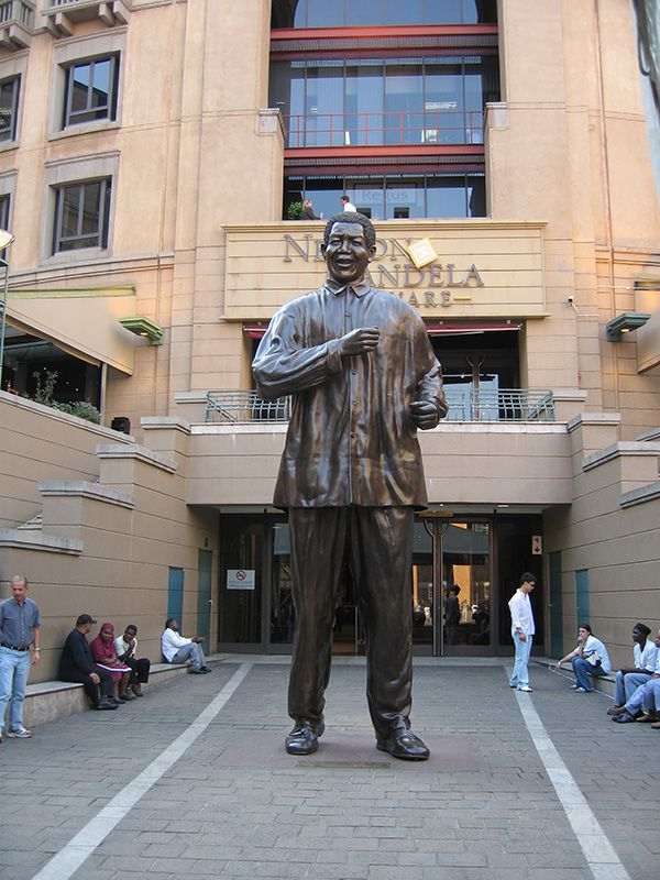 Nelson Mandela Sq. in Sandton. Sandton, Johannesburg, Gauteng, South Africa