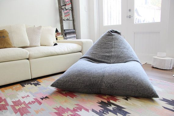 Bean bag, back rest, chair, charcoal, seat