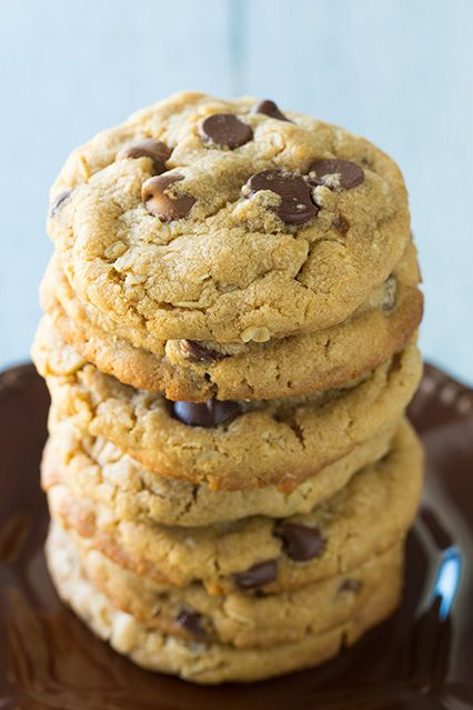 Browned Butter Peanut Butter Oatmeal Chocolate Chip Cookies - Cooking Classy