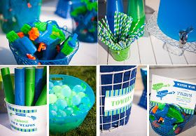 The Homespun Hostess: WATER WAR - Celebrating Tyler's 10th Birthday