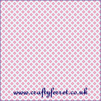 FREE printable pink diamonds on blue craft backing paper