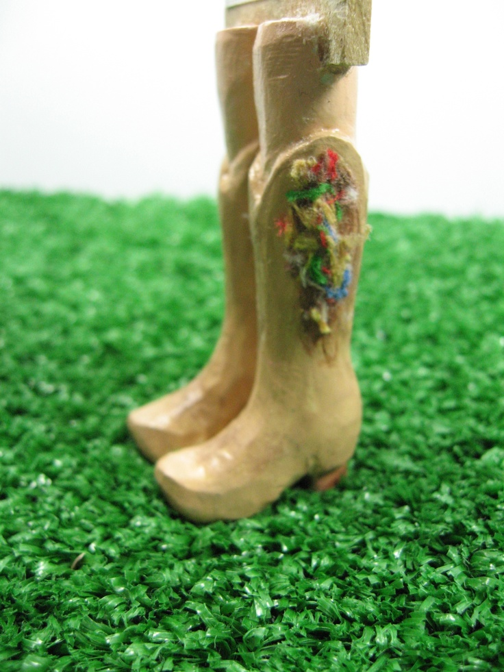 Tan Cowboy Boots Bookmark With Legs and Added Flare