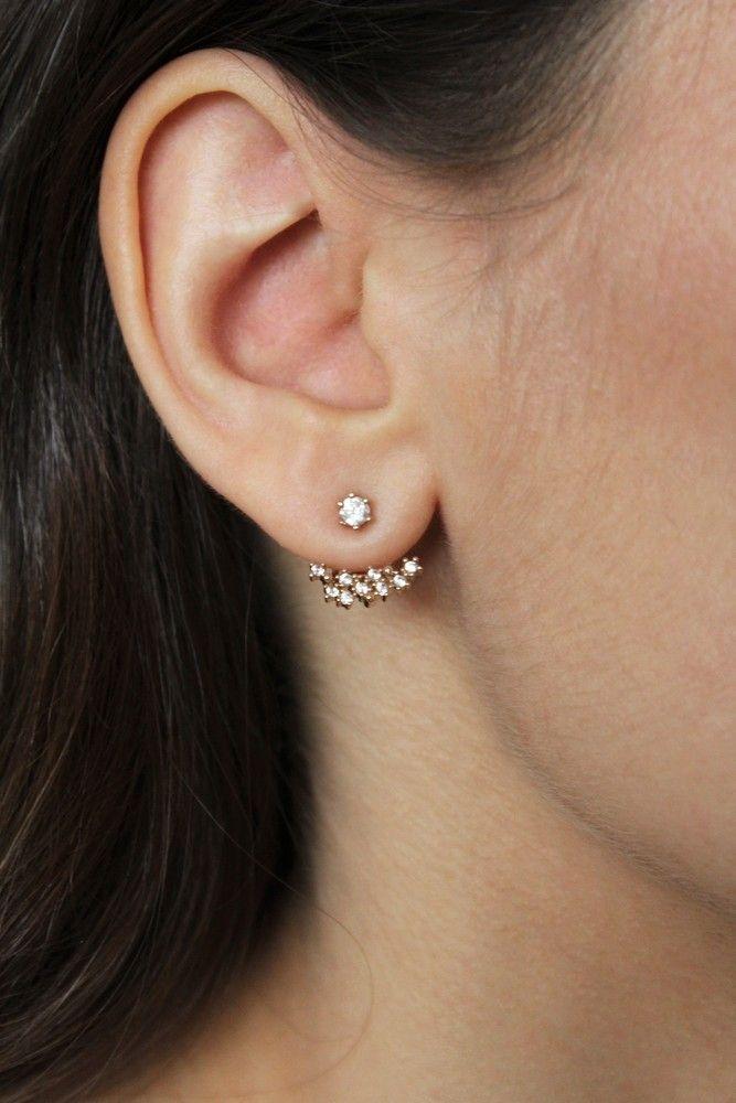 Boucles d'oreilles Lily plaqué or rose