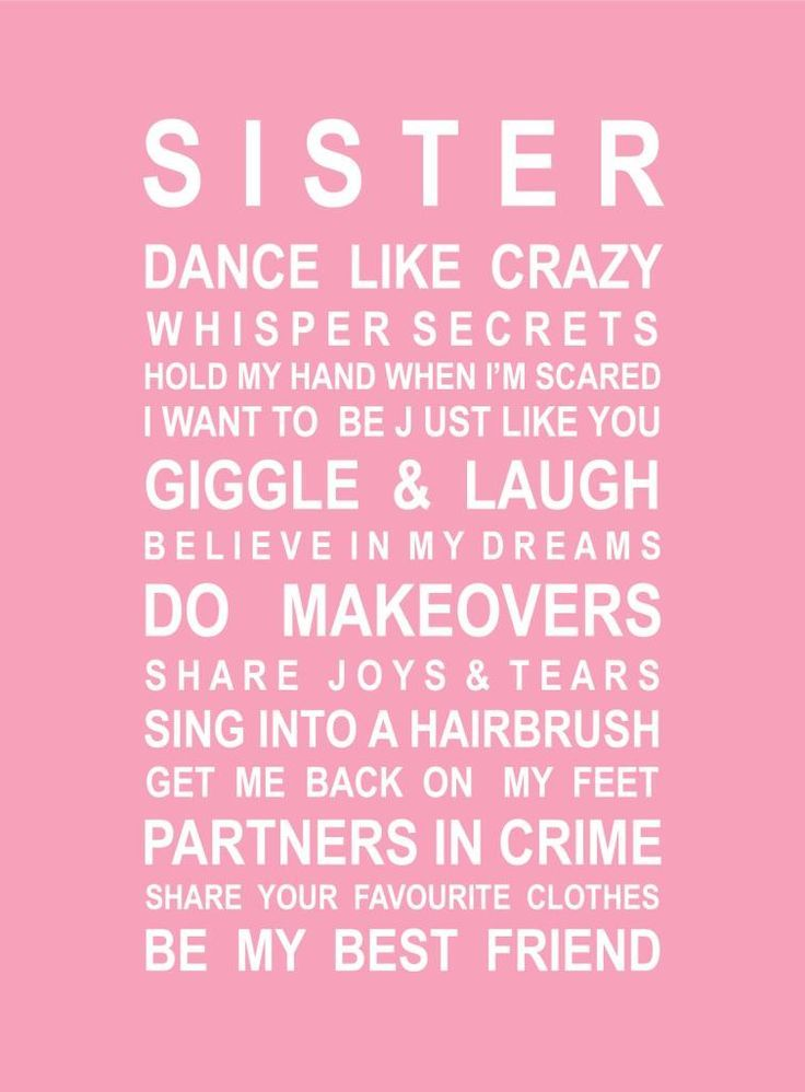 Sister Poster from My Favourite