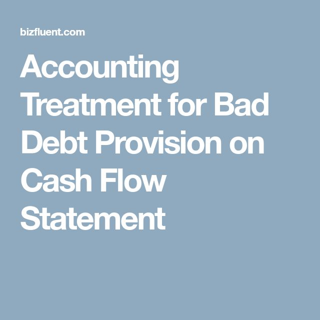 Accounting Treatment for Bad Debt Provision on Cash Flow Statement