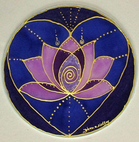 Sacred heart mandala, lotus mandala, heart mandala, spiritual art,metaphysical art, new age art on Etsy, $34.00