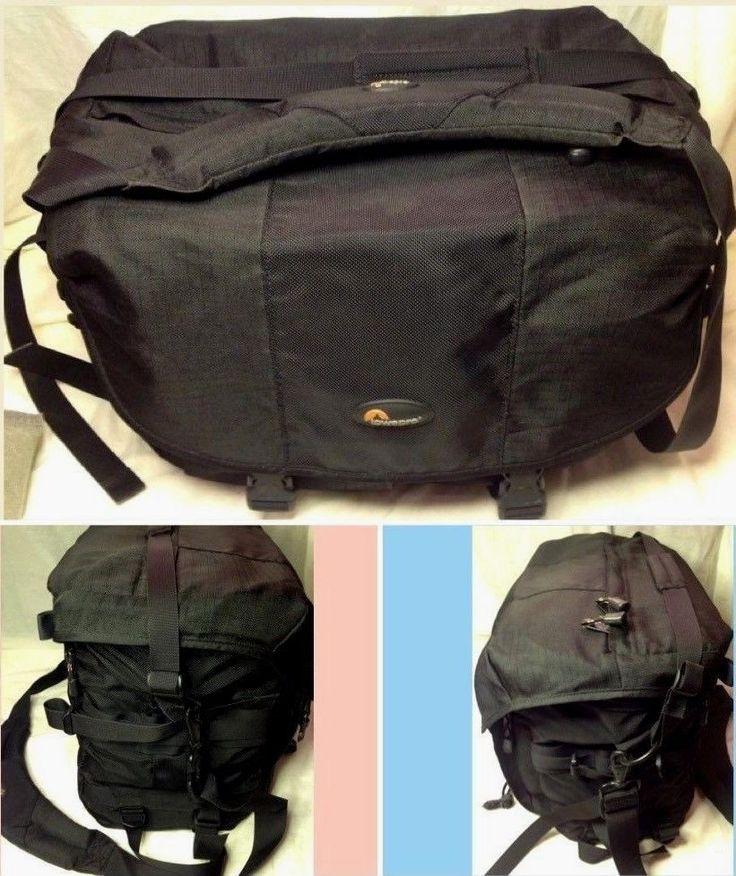 Lowepro Stealth Reporter 650AW Large Black Professional Camera Bag w/ Strap NICE #Lowepro
