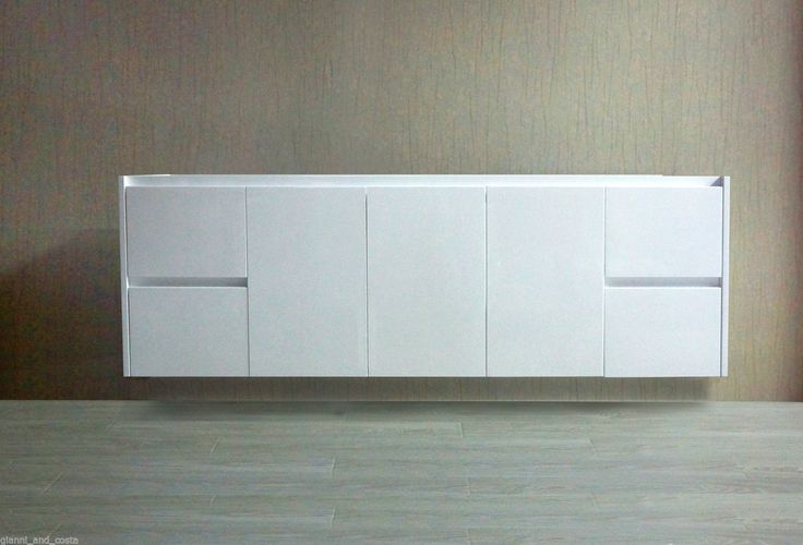 BATHROOM VANITY UNIT - 1500mm POLYURETHANE WALL HUNG - CABINET ONLY - MODEL HADI | eBay