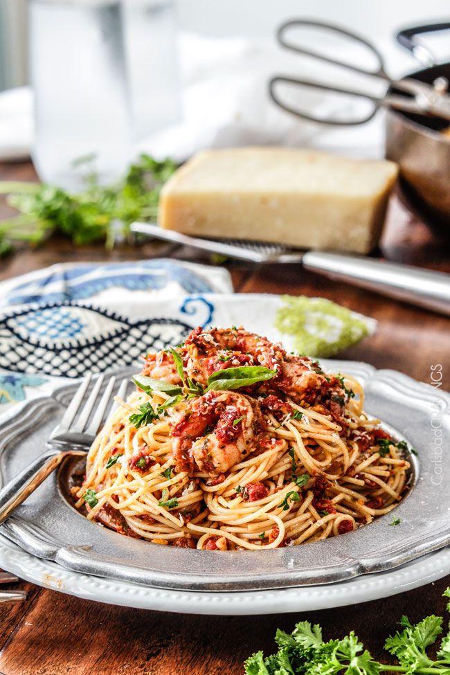Sun-Dried Tomato Basil Shrimp Pasta