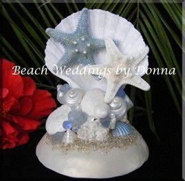 figurine-originale-pour-gateau-de-mariage-theme-mer-plage-coquillage ...
