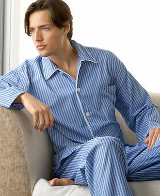 Polo Ralph Lauren Men's Sleepwear, Manhatten Stripe Woven PJ Top and Pants - Pajamas - Men - Macy's