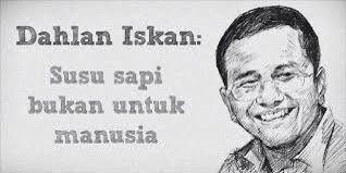 """Susu sapi bukan untuk manusia"", Dahlan Iskan (Jawa Pos, 15 Mei 2009) #be a buyer smart *-=)"