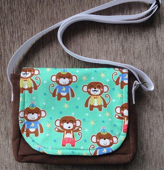 Small messenger bags, Brown messenger bag, Shoulder bag, Fabric bags, Girl's messenger bag, Bags and purses, Girl's birthday present