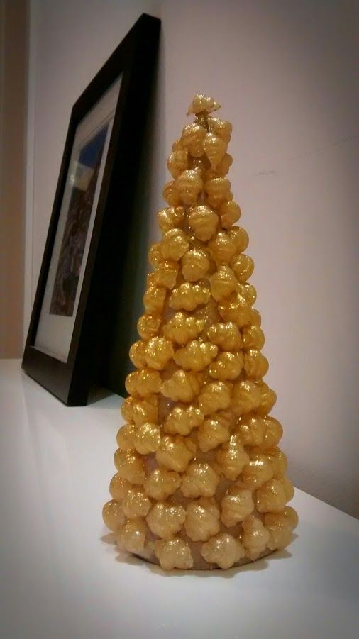 choinka z makaronu - Karol  pasta and glue christmas tree