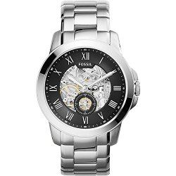 Fossil Men's ME3055 Grant Three-Hand Automatic Stainless Steel Watch – Silver-Tone
