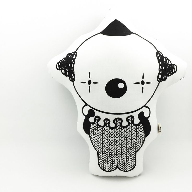 Perfectly Monochrome!• Original designed by RicebabyShop• Hand screen printed and hand sewn finished• Printed on soft white cotton• Filled with polyester stuffing• Water based non toxic Eco friendly ink on one side• Approximately size H32cm x W25cm (the longest length and the widest width)• Spot clean• Dispatched within 1-2 weeksEvery Soft Toy is one of a kind that handmade by me or my team.Thank you so much for visiting!All designs © Ric...