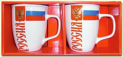 SHOP-PARADISE.COM:  Набор кружек Россия 400 мл 2 шт. 5,87 €